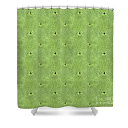 Geometric Prickles Shower Curtain