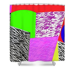 Geometric Shapes 1 Shower Curtain by Bruce Iorio