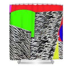 Geometric Shapes 3 Shower Curtain by Bruce Iorio