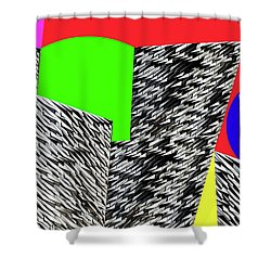 Geometric Shapes 4 Shower Curtain by Bruce Iorio