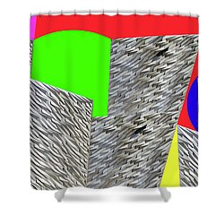 Geometric Shapes Shower Curtain by Bruce Iorio
