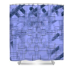 Geometrical Shower Curtain