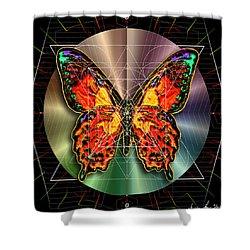 Geometron Fyr Lepidoptera Shower Curtain by Iowan Stone-Flowers
