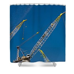 Shower Curtain featuring the photograph Geometry Of The Carnes by Gary Slawsky