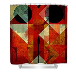 Geomix-04 - 39c3at22g Shower Curtain by Variance Collections