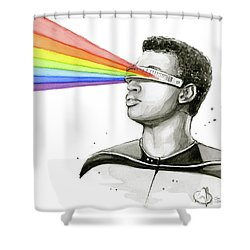 Geordi Sees The Rainbow Shower Curtain