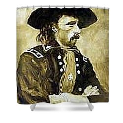 George Armstrong Custer Shower Curtain by Kevin Heaney