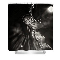 George Benson Black And White Shower Curtain