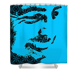 George Clooney 1 Shower Curtain by Emme Pons