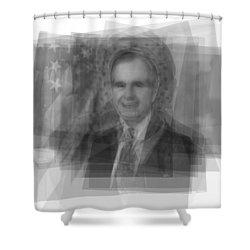George H. W. Bush Shower Curtain by Steve Socha