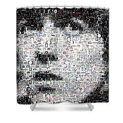 George Harrison Mosaic Shower Curtain by Paul Van Scott
