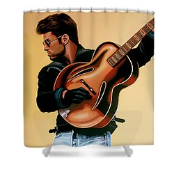 George Michael Painting Shower Curtain by Paul Meijering