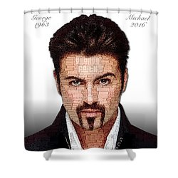George Michael Tribute Shower Curtain