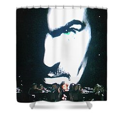 Shower Curtain featuring the photograph George Michael's Eye Appeal by Toni Hopper