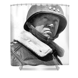 George S. Patton Unknown Date Shower Curtain by David Lee Guss