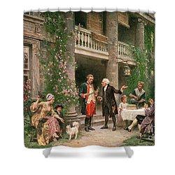 George Washington At Bartrams Garden Shower Curtain by Jean Leon Jerome Ferris