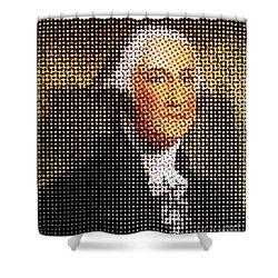 George Washington In Dots  Shower Curtain