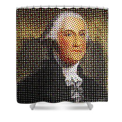 George Washington In Dots  Shower Curtain