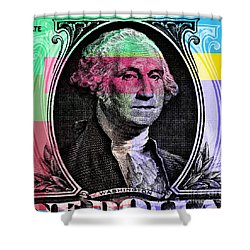 George Washington Pop Art Shower Curtain