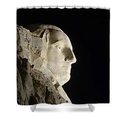 George Washington Profile At Night Shower Curtain by David Lawson