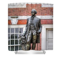 George Washington Statue Shower Curtain