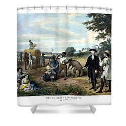 George Washington The Farmer Shower Curtain by War Is Hell Store