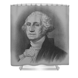 George Washington Shower Curtain by War Is Hell Store