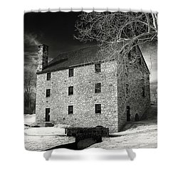 George Washingtons Gristmill Shower Curtain by Paul Seymour
