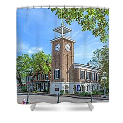 Georgetown Clock Tower Shower Curtain