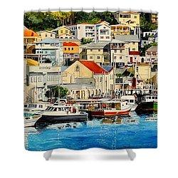 Georgetown Harbor, Grenada Shower Curtain