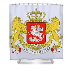 Georgia Coat Of Arms Shower Curtain by Movie Poster Prints