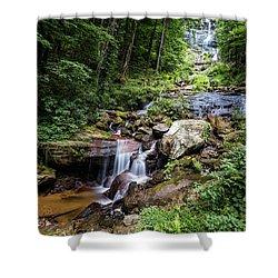 Georgia Mountain Stream Shower Curtain