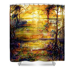Georgia Okefenokee Land Of Trembling Earth Shower Curtain