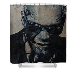 Georgia On My Mind - Ray Charles  Shower Curtain