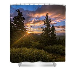 Georgia Pass Sun Rays Shower Curtain by Michael J Bauer