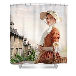 Georgian Period Woman Shower Curtain by Lee Avison