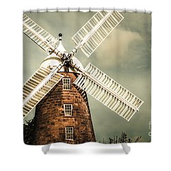 Shower Curtain featuring the photograph Georgian Stone Windmill  by Jorgo Photography - Wall Art Gallery