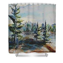 Georgian View Shower Curtain by Heather Kertzer