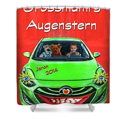 Shower Curtain featuring the photograph Teddy Transportation by Hanny Heim