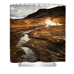 Geothermal Area Krysuvik In Iceland Shower Curtain