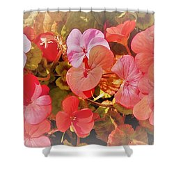 Geranium Shower Curtain