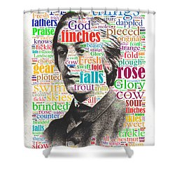 Gerard Manley Hopkins Shower Curtain