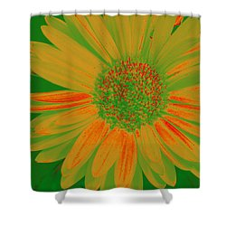 Gerbia Daisy Sabattier Shower Curtain