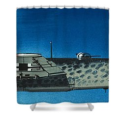German Aircraft Of World War  Two Focke Wulf Condor Bomber Shower Curtain