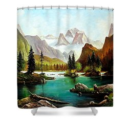 German Alps Shower Curtain