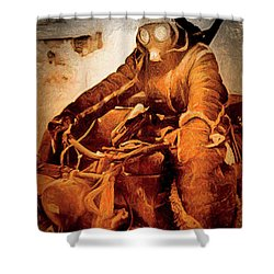 German Biker Shower Curtain