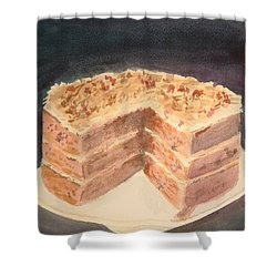 German Chocolate Cake Shower Curtain