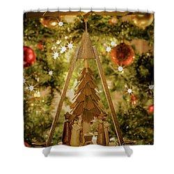 German Christmas Pyramid Shower Curtain