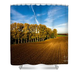 Fields From Above Shower Curtain