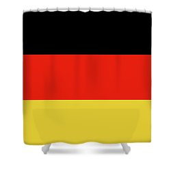 Shower Curtain featuring the digital art German Flag by Bruce Stanfield